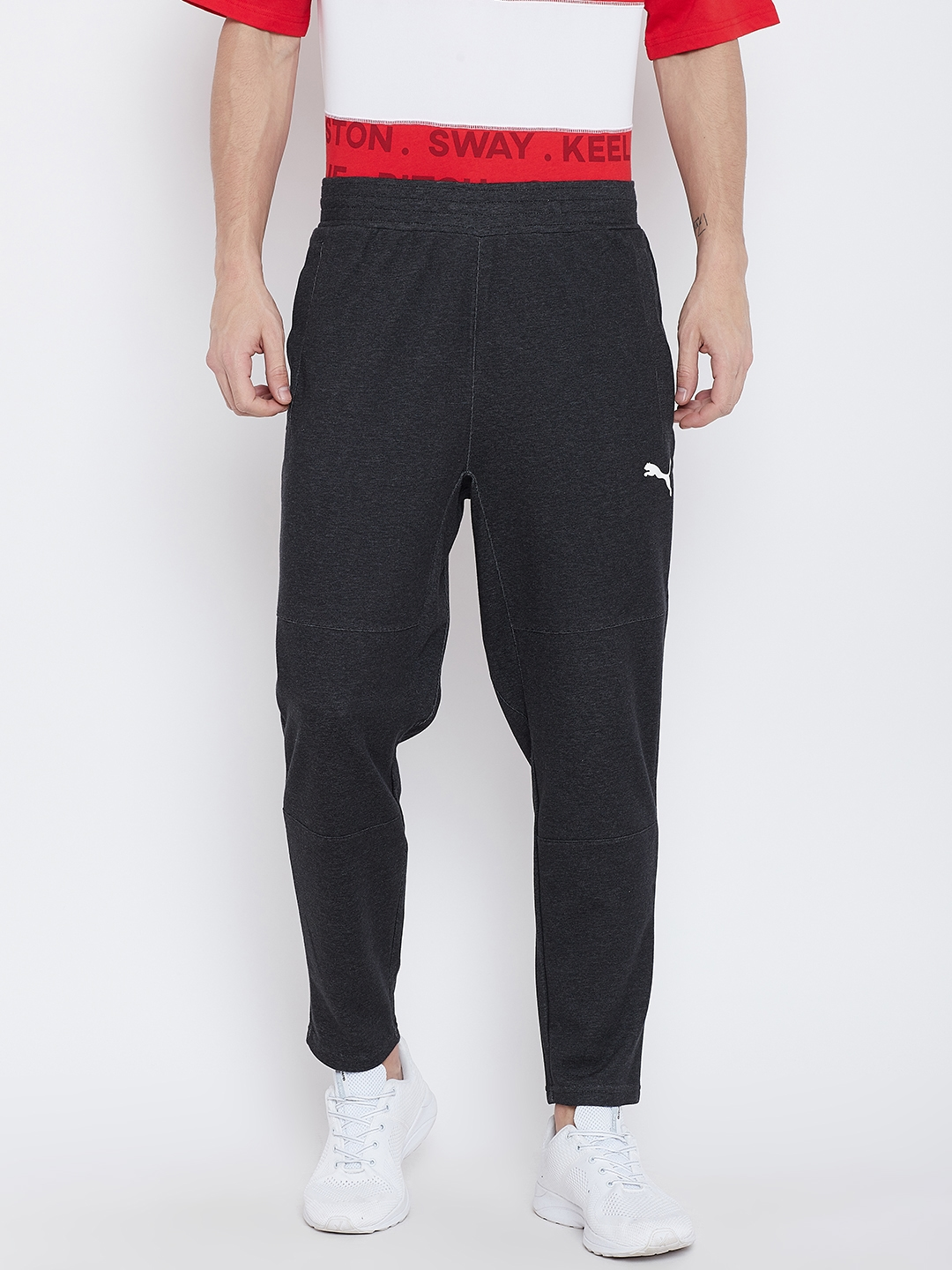 482bef29ac93 Buy Puma Men Black Energy Knit Trackster Sports Track Pants - Track ...