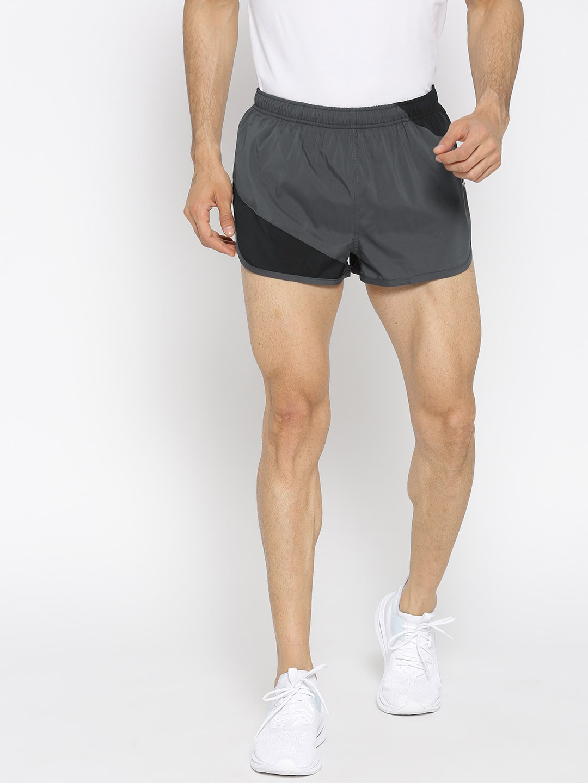 Puma Men Grey & Black Colourblocked Ignite Split Shorts