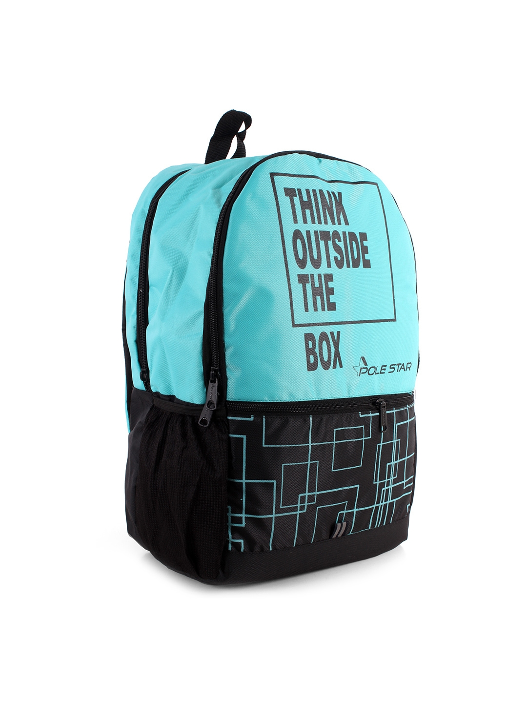 3bd809473970 Buy POLE STAR Unisex Turquoise Blue   Black Graphic Backpack ...