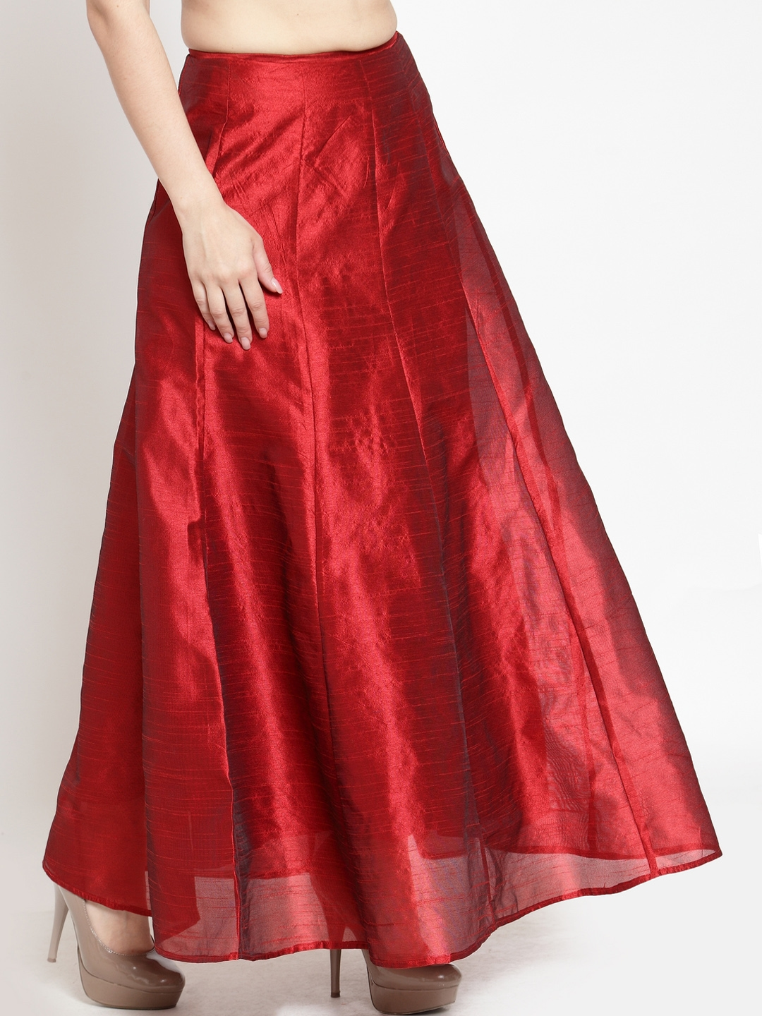 9ff7397d7d Buy Just Wow Women Maroon Solid A Line Maxi Skirt - Skirts for Women ...