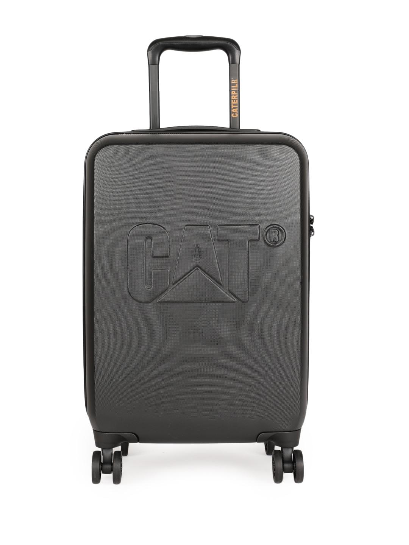 CAT Unisex Black D 20  Cabin Trolley Suitcase