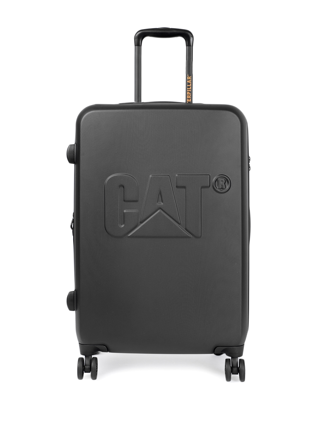 CAT Unisex Black D 24  Hardside Checkin Trolley Suitcase