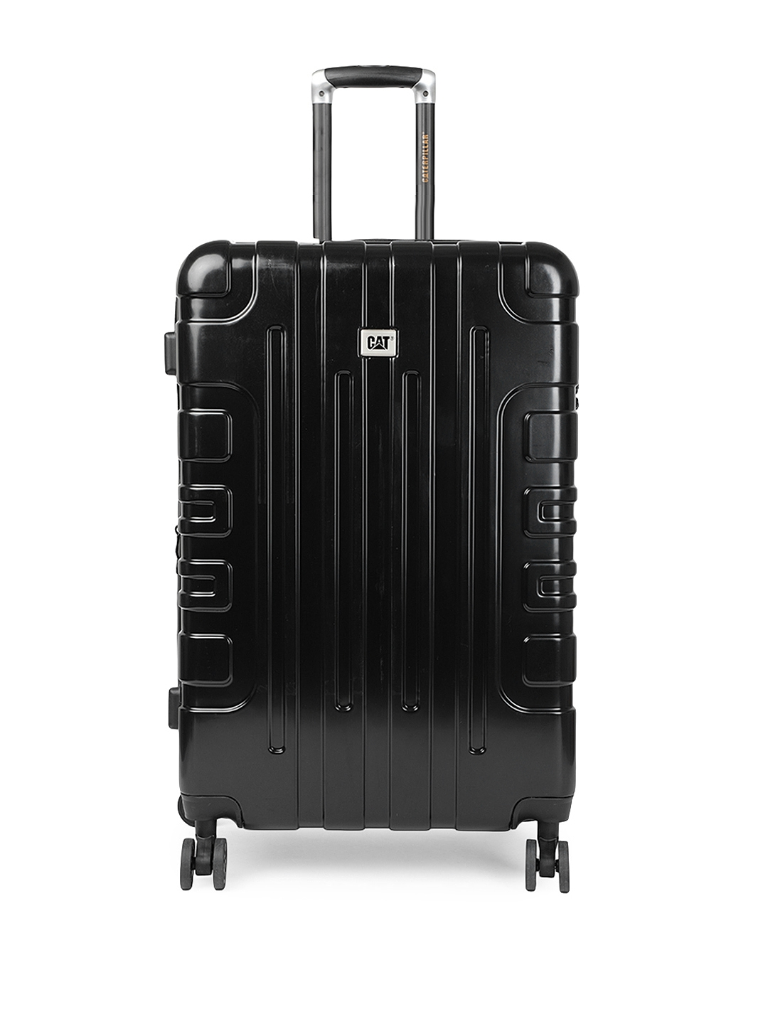 CAT Black Cityscape 28'' Check In Large Hardside Checkin Trolley Suitcase
