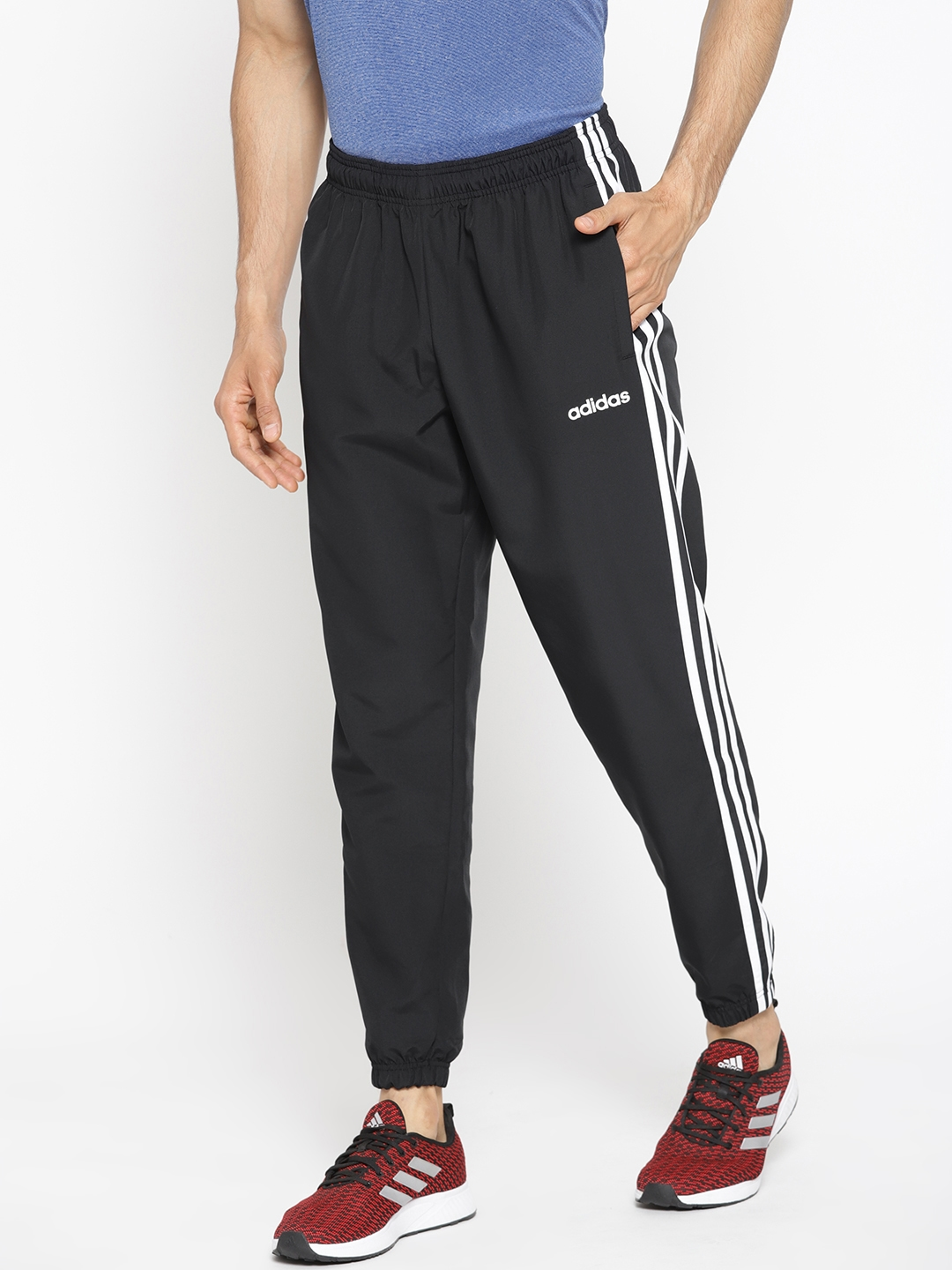 5907bf887 Buy ADIDAS Men Black Solid E 3S Wind Joggers - Track Pants for Men ...