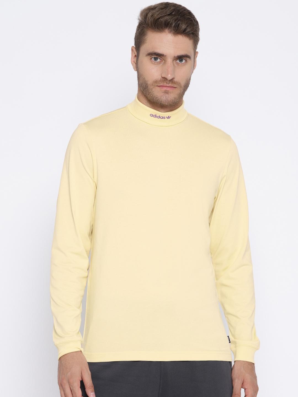 Buy ADIDAS Men Yellow Solid HIGH COLLAR