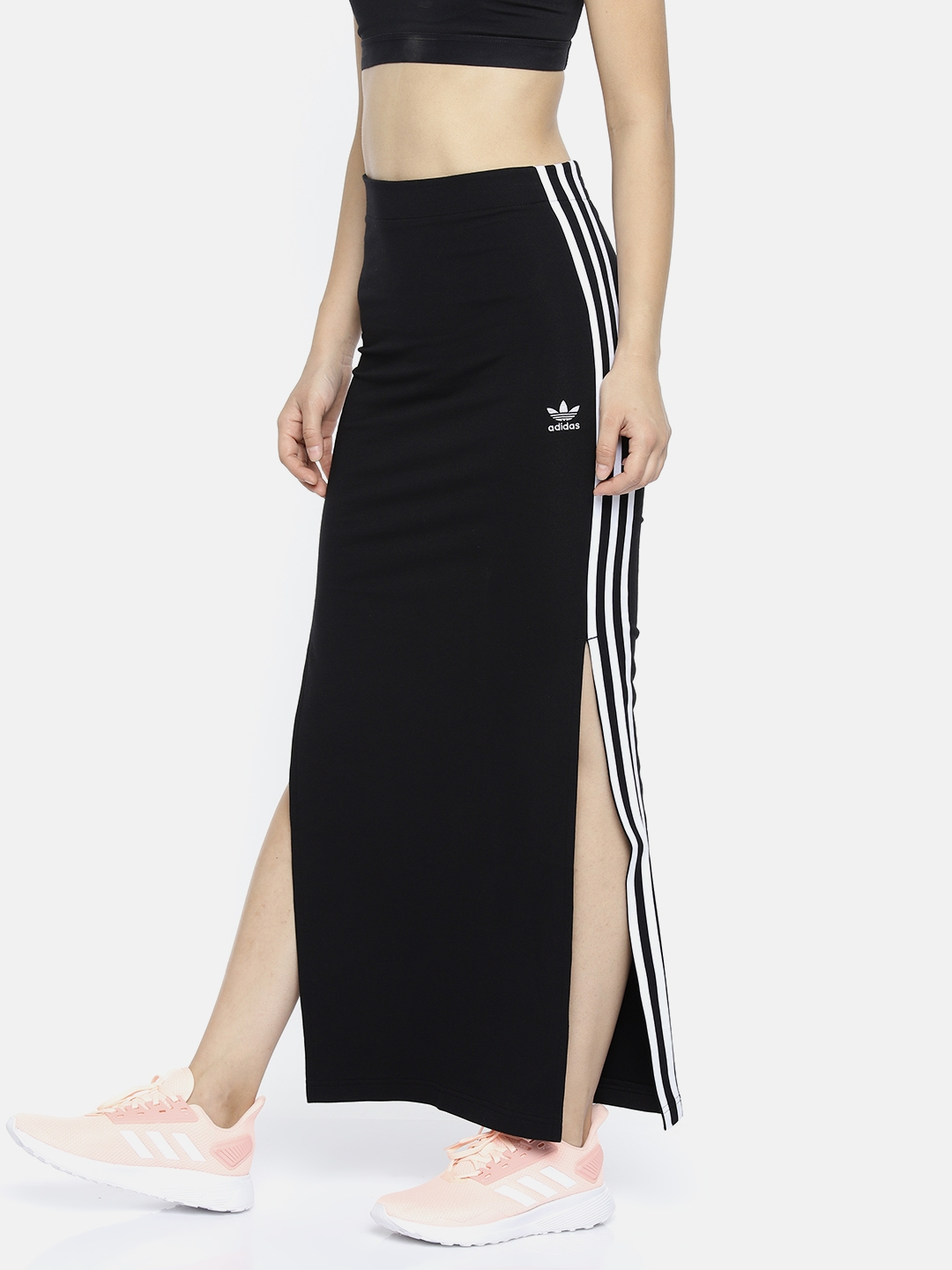 4bacf6e19 Buy ADIDAS Originals Women Black Solid Maxi Skirt - Skirts for Women ...