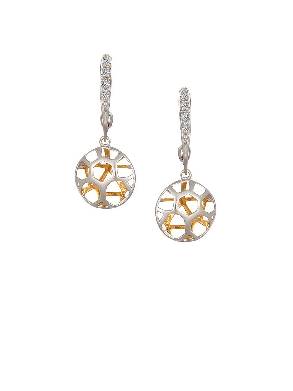 Mia by Tanishq 14 Karat Gold Precious Drop Earrings with Diamonds Mia by Tanishq Earrings Diamond