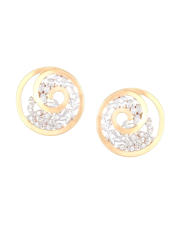 Mia by Tanishq 14KT Yellow   White Gold Diamond Stud Earrings Mia by Tanishq Earrings Diamond