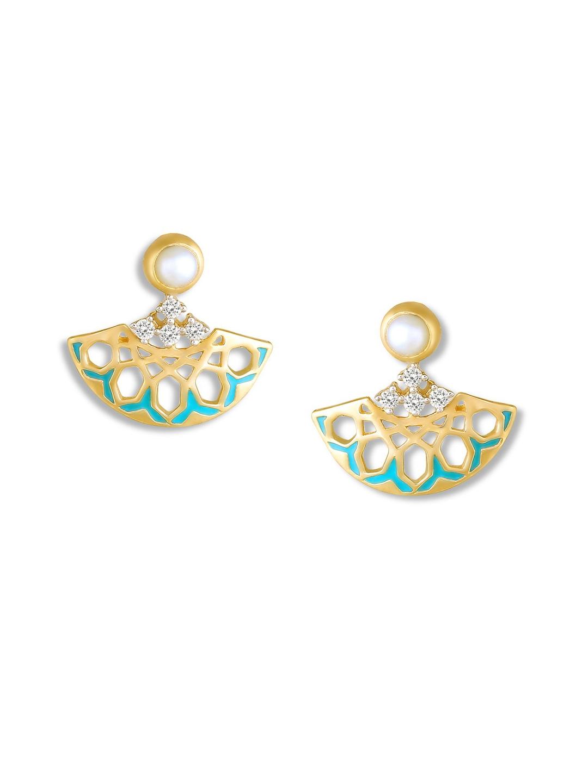 f8a8a7704fdcd Buy Mia By Tanishq 14KT Yellow Gold Diamond Drop Earrings - Earrings ...