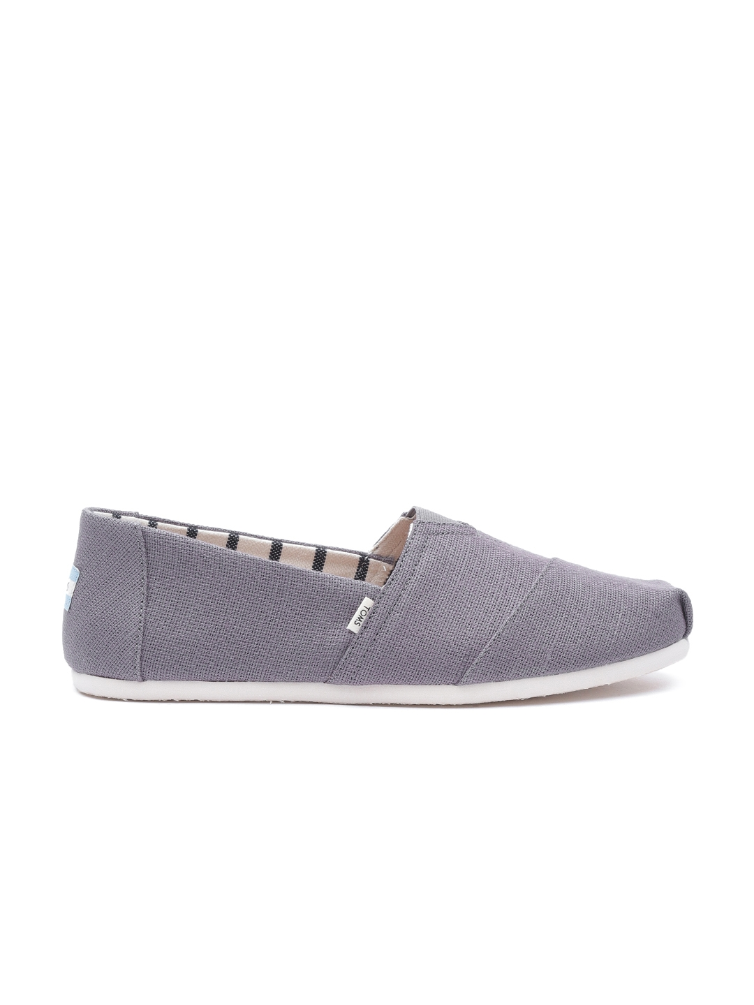 TOMS Men Grey Slip Ons - Casual Shoes