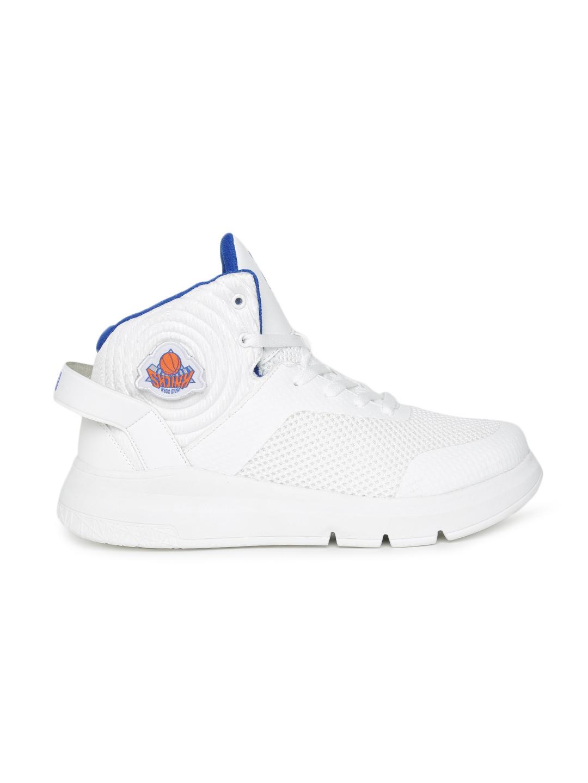 01e6e7fac0 Buy NBA Men White New York Knicks Sneakers - Casual Shoes for Men ...