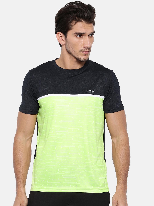 2ae86e403b6 Buy Proline Men Lime Green Colourblocked Round Neck T Shirt ...