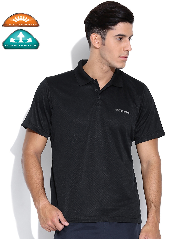 0308b91b Buy Columbia Black New Utilizer Outdoor Polo T Shirt - Tshirts for ...