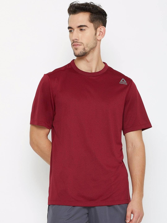 b228789539 Buy Reebok Men Maroon US Melange Training T Shirt - Tshirts for Men ...