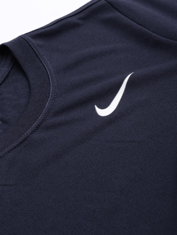 1cb8f96e2cee Nike Women Navy Blue Standard Fit AS W NK RUN TOP SS DRI-FIT Solid Running  T-Shirt