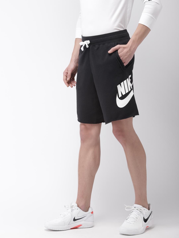 Nike Men Black Loose Fit ALUMNI Solid Sports Shorts
