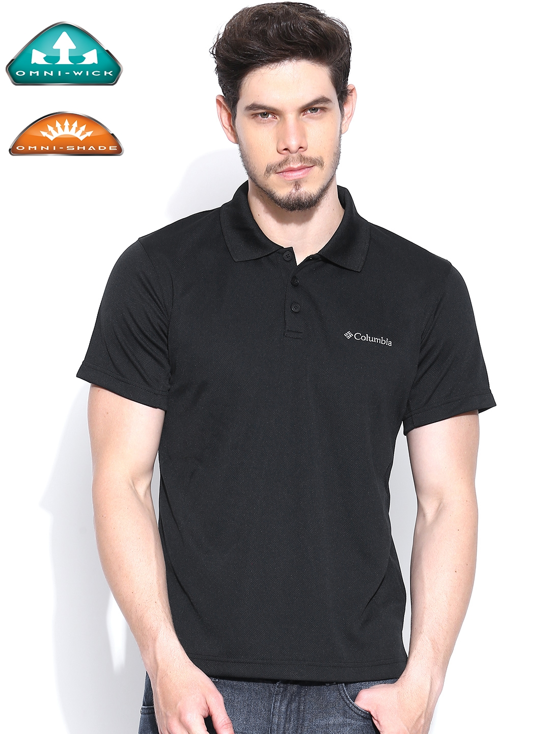 6f0835f7611 Buy Columbia Men Black New Utilizer UV Protect Outdoor Casual Polo T ...
