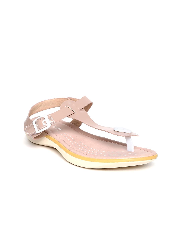 0b70136f611 Buy Wet Blue Women Dusty Pink Glossy Sandals - Flats for Women ...