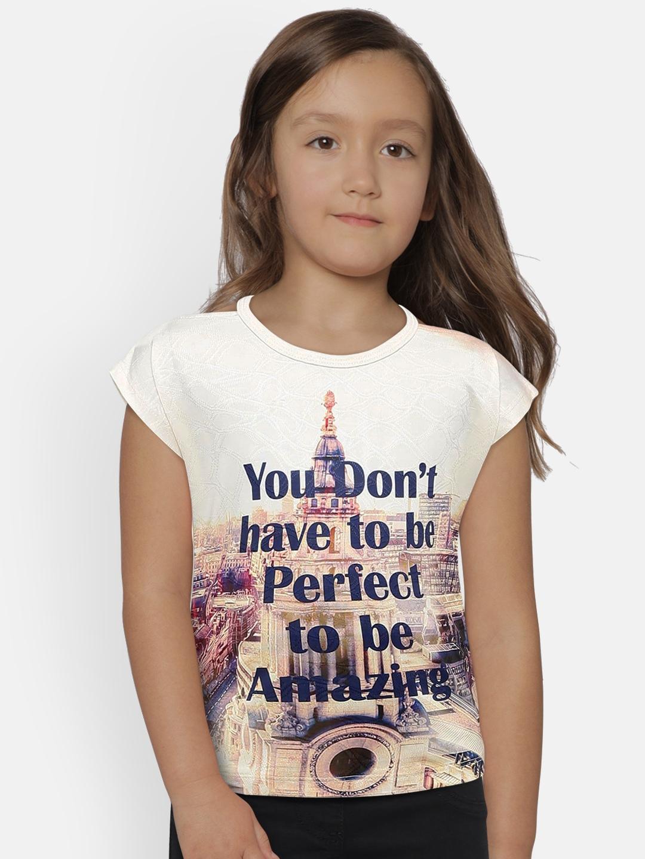 Tiny Girl Girls Khaki Printed Top