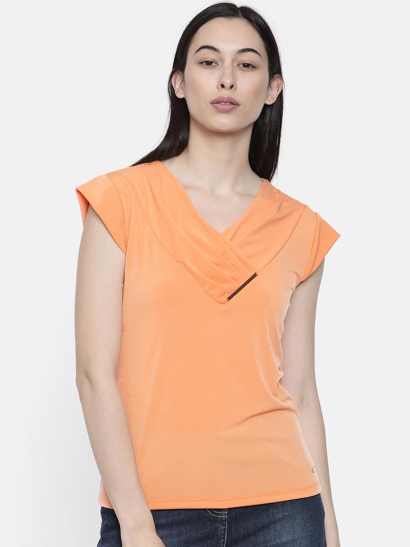 Park Avenue Woman Women Orange Solid Top