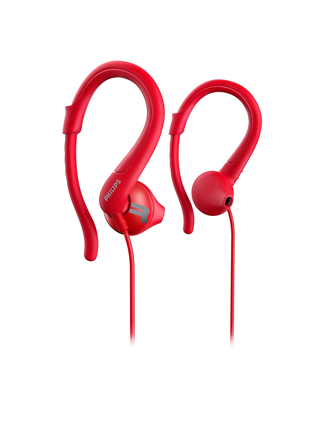 Philips Unisex Red ActionFit Wired Earphones SHQ1250TRD/00 Philips Headphones