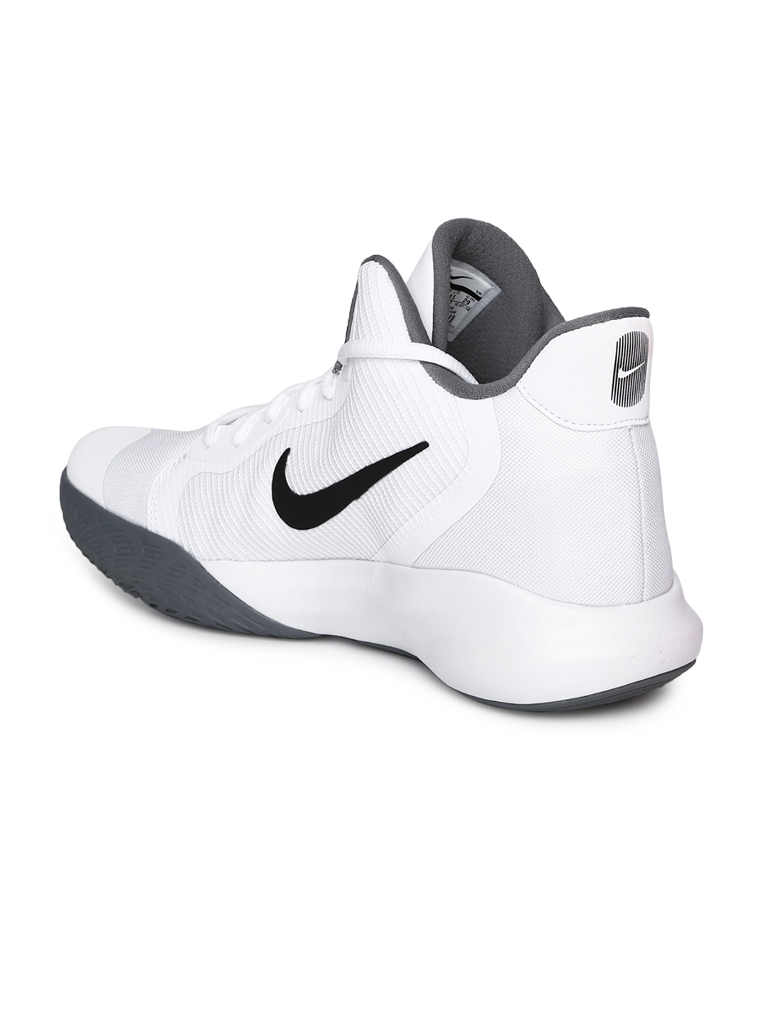 huge selection of 54ee8 a6f6d Nike Unisex White Precision III Mid-Top Basketball Shoes