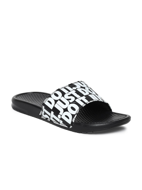 eea5f87c4765 Buy Nike Men Black Printed Benassi JDI Sliders - Flip Flops for Men ...