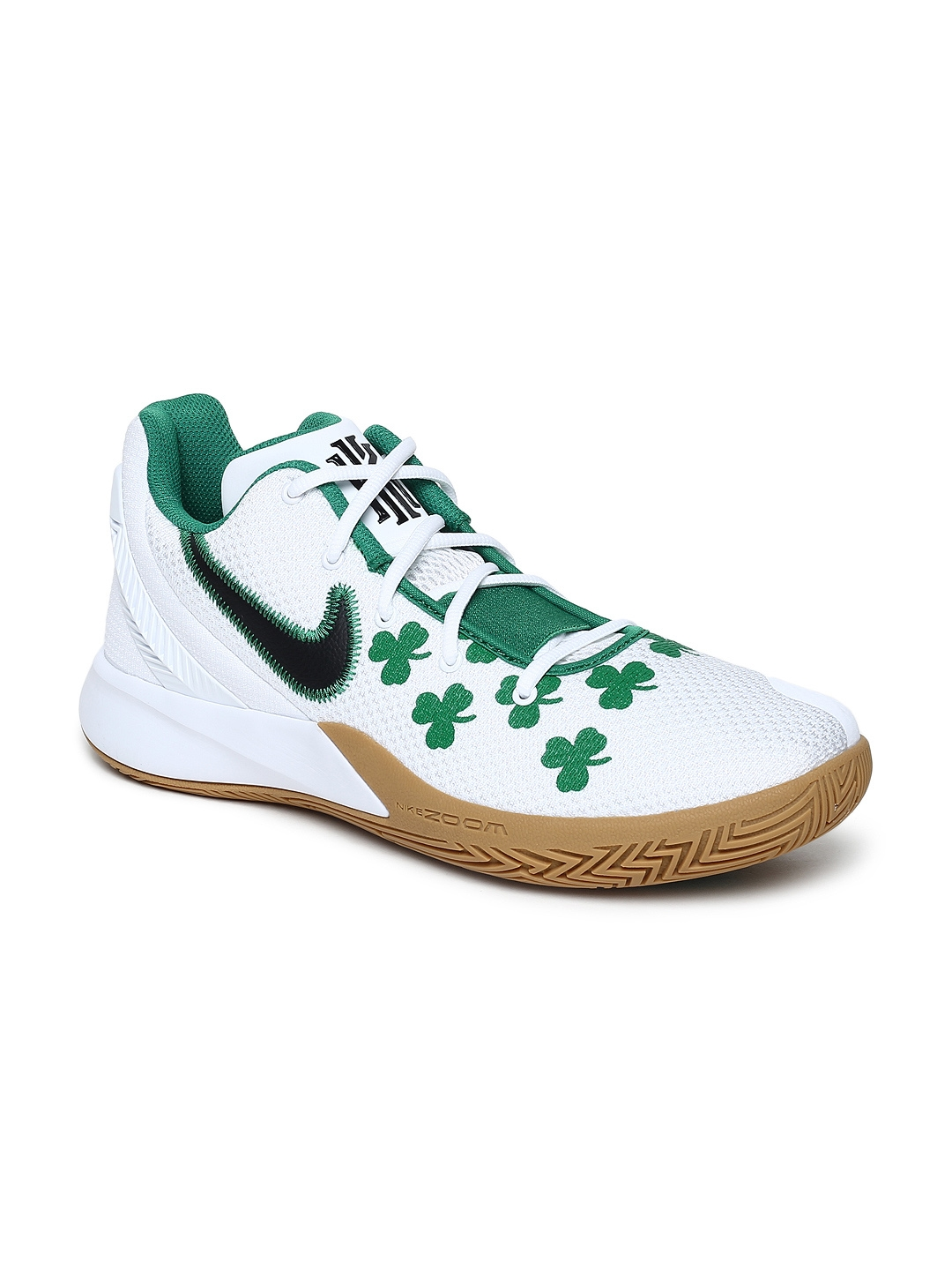 wholesale dealer eefbc 5aba6 Nike Men White & Green KYRIE FLYTRAP II EP BasketBall Shoes