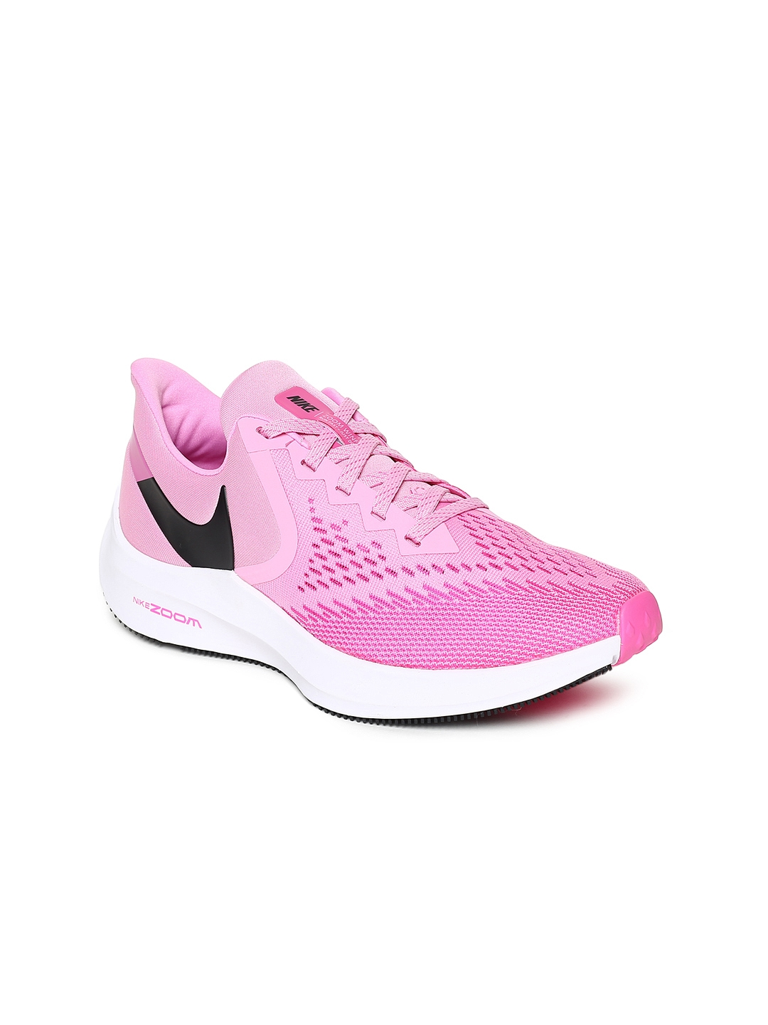 64621b449 Buy Nike Women Pink ZOOM WINFLO 6 Running Shoes - Sports Shoes for ...