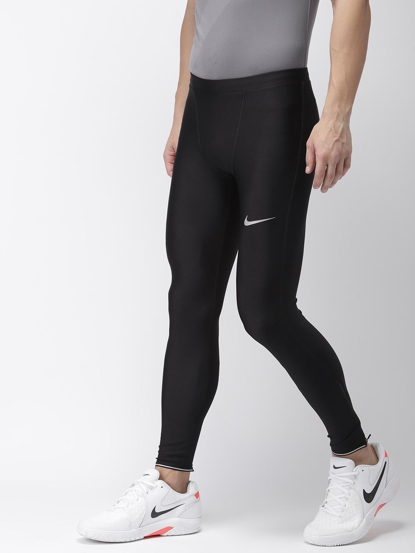 c6075e3b22ae8 Buy Nike Men Black Solid Tight Fit AS M NK RUN MOBILITY Dri FIT ...