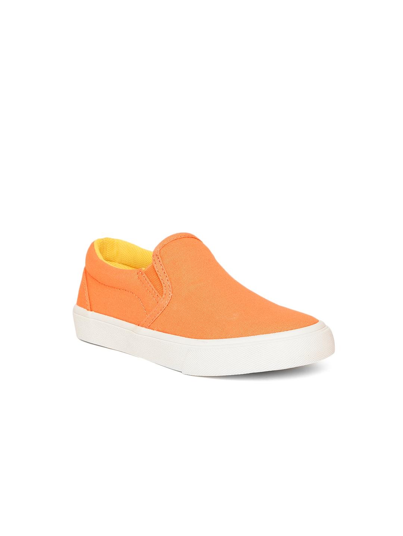 Orange Slip Ons - Casual Shoes
