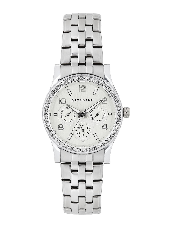 GIORDANO Women Silver Toned Dial Watch 60068 11