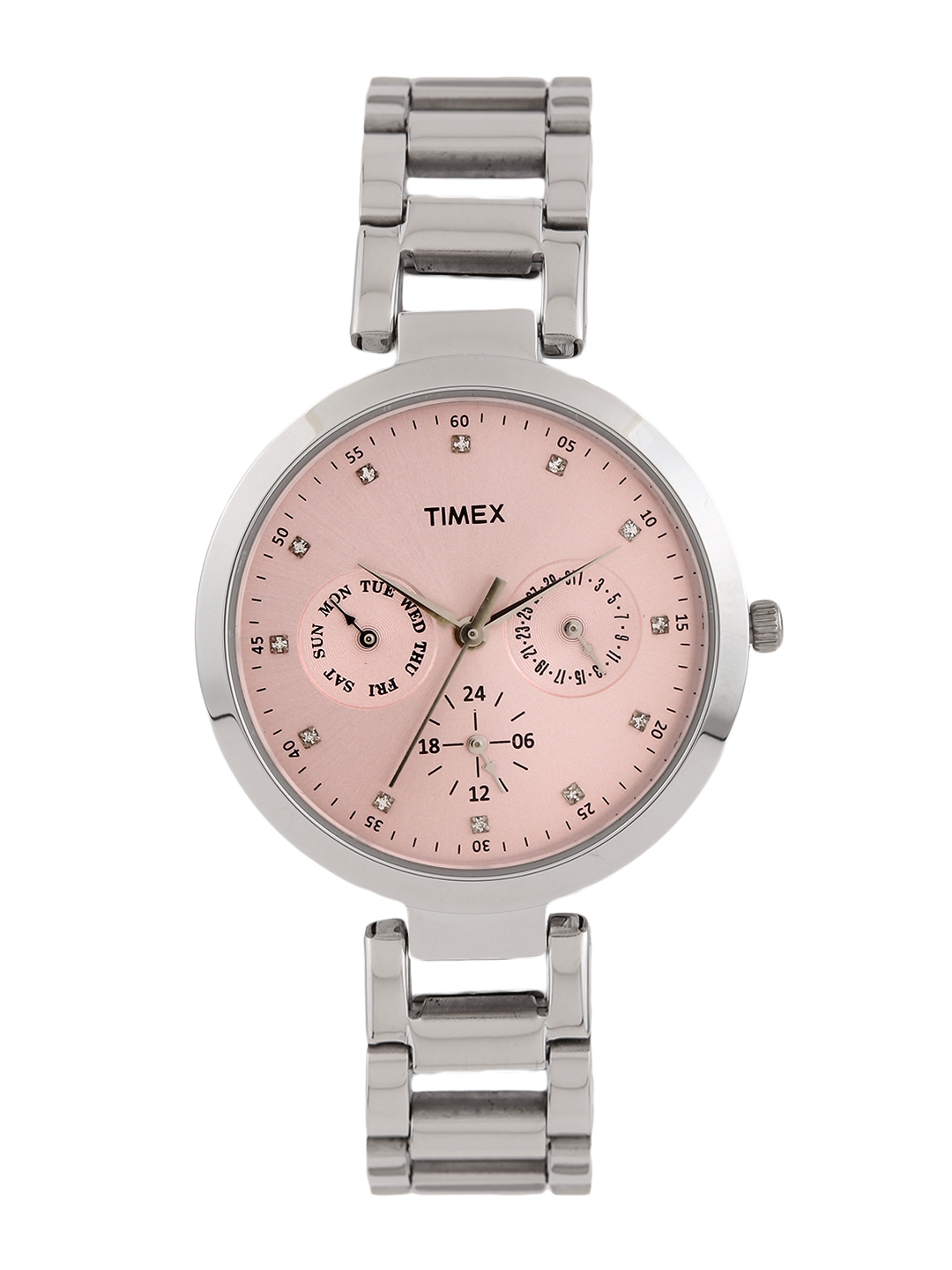 Timex Women Pink Dial Watch TW000X206