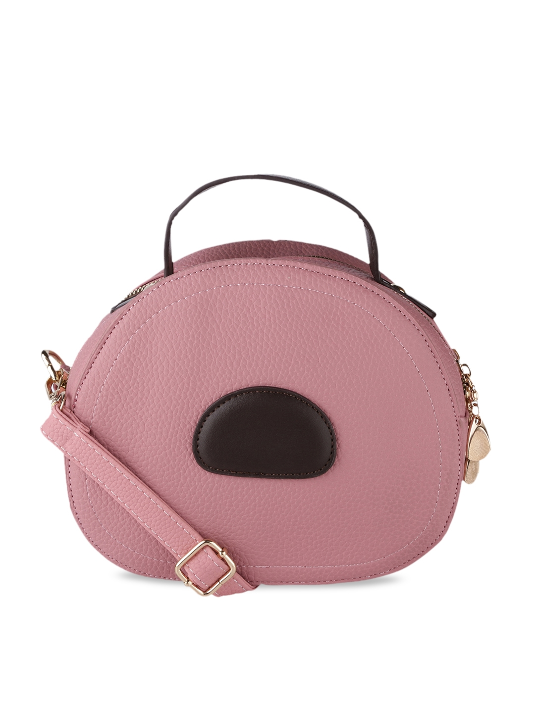Satchel Bags Women Pink   Brown Colourblocked Satchel