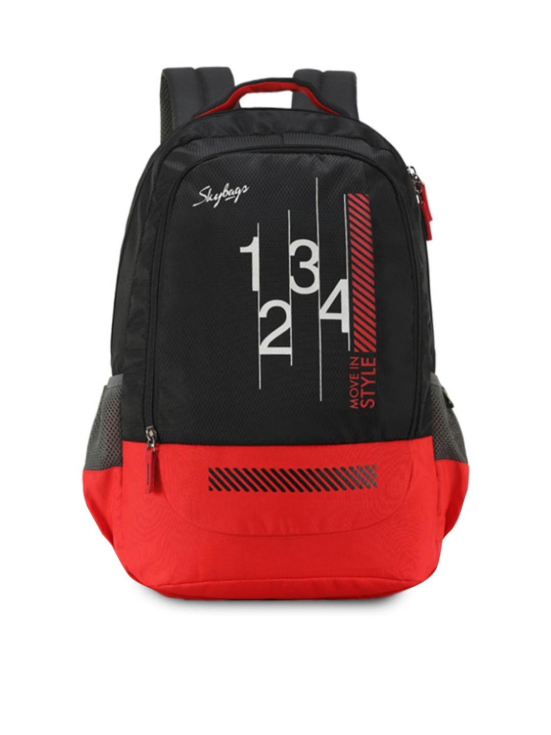 Skybags Unisex Black Graphic Backpack