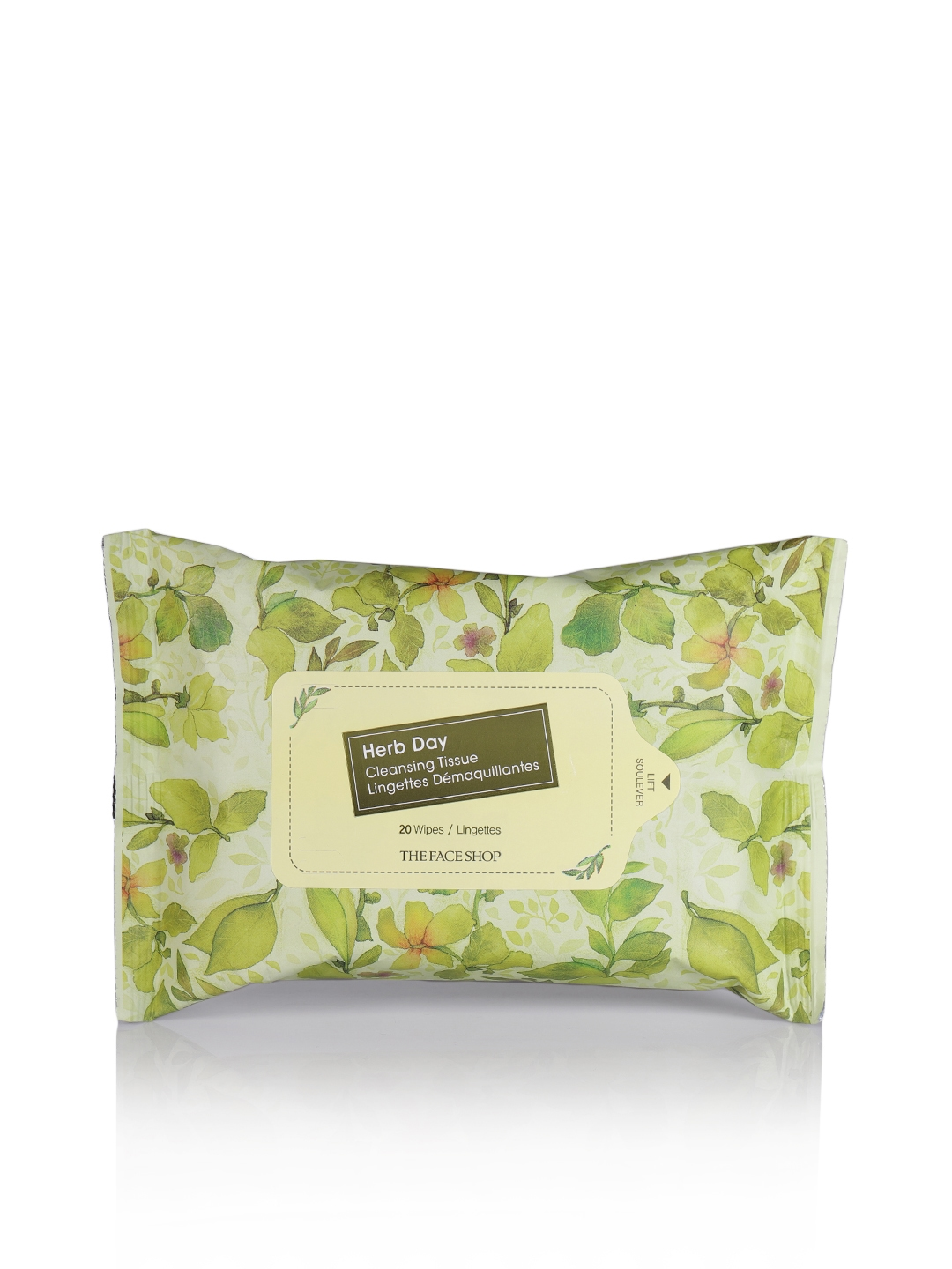 The Face Shop Unisex Herb Day Cleansing Tissue 20 Sheets