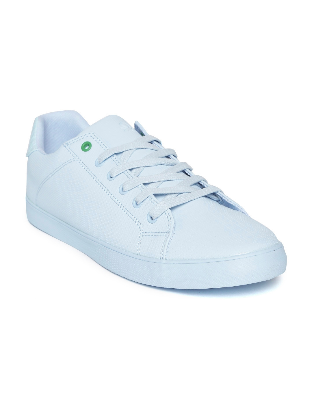 Blue Textured Sneakers - Casual Shoes