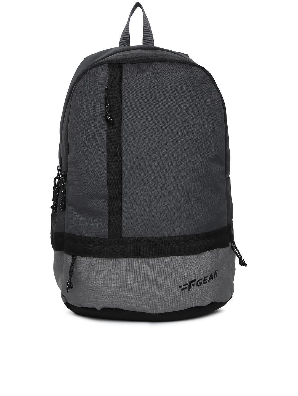 F Gear Unisex Grey Colourblocked Backpack