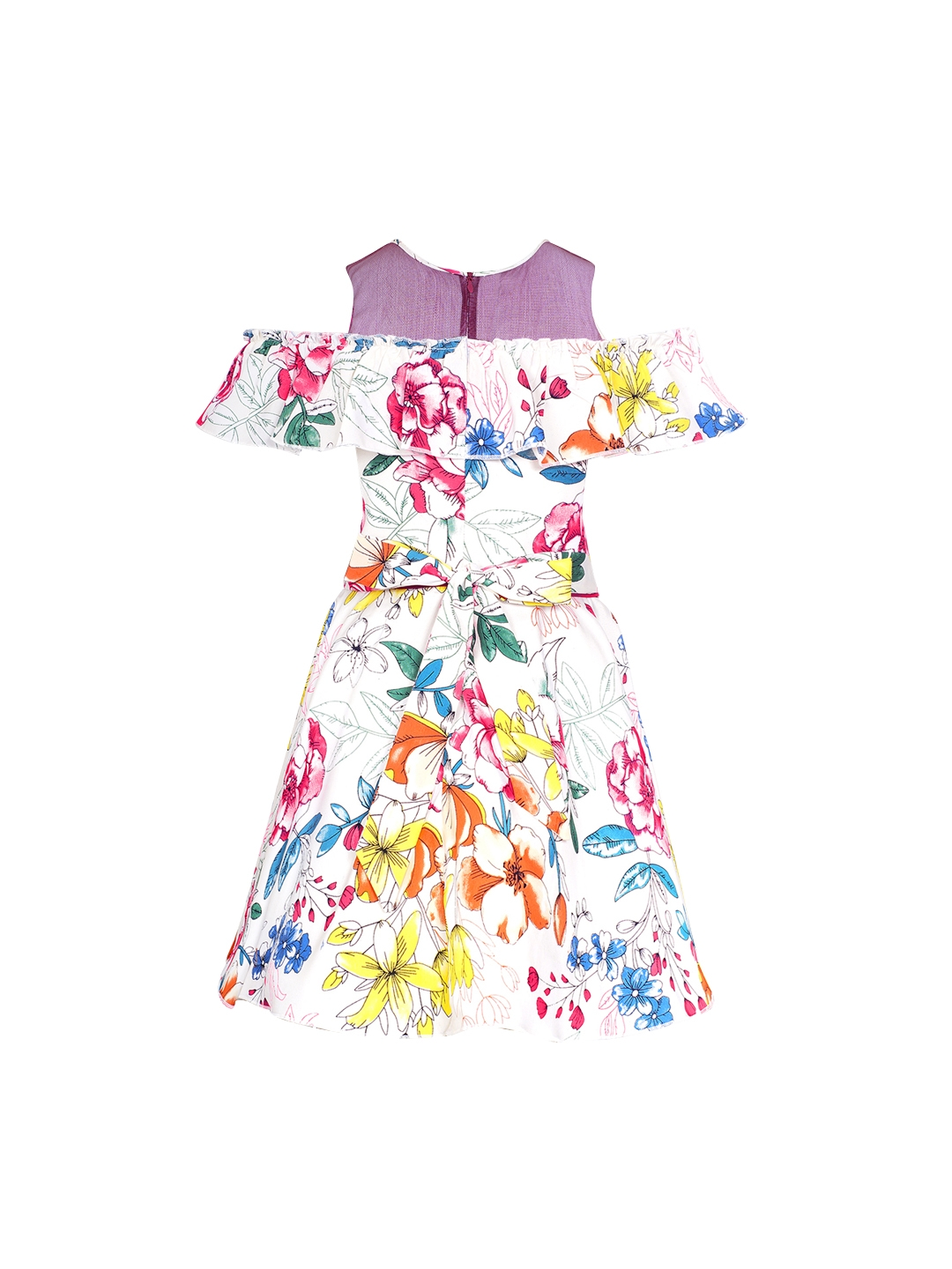 361e6d75 Buy Naughty Ninos Girls White Printed Fit And Flare Dress - Dresses ...