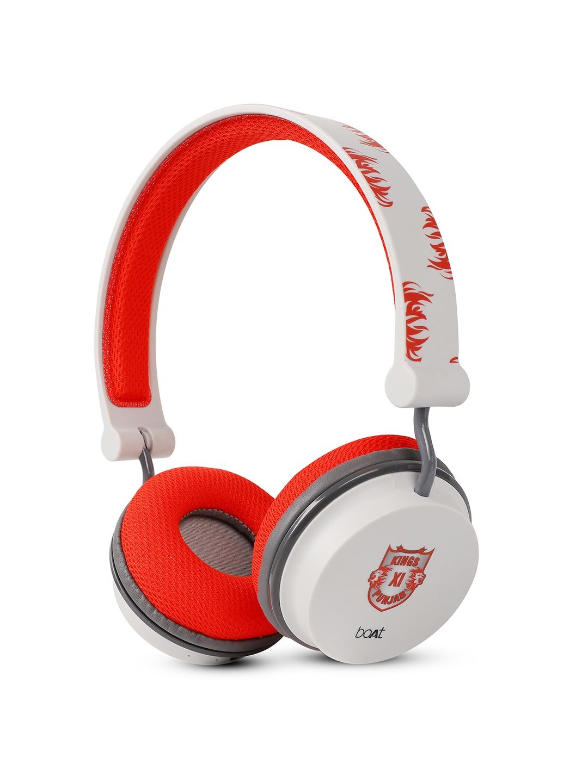 boAt Red Kings XI Punjab Edition Rockerz 400 Bluetooth Wireless Headphone  Red