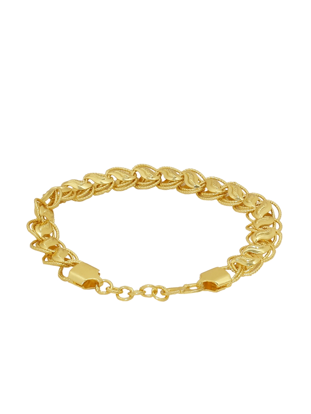 6a811cb9b2739 Buy Dare By Voylla Men Gold Toned Brass Plated Handcrafted Link ...