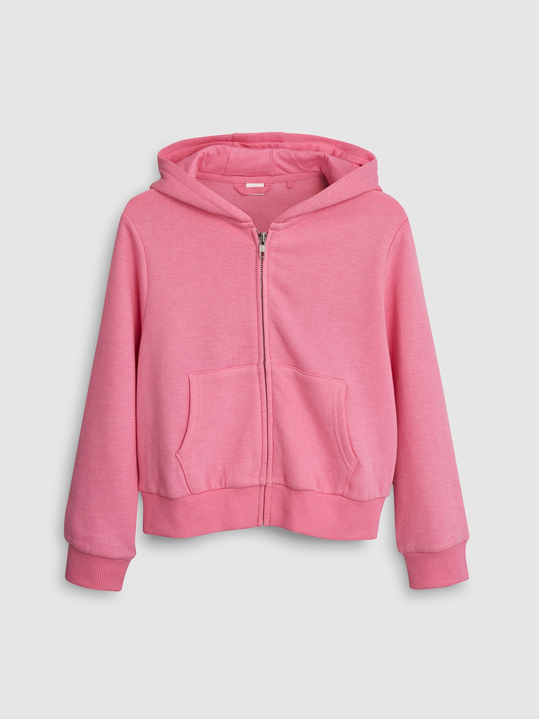 ba8e8989b0c Buy Next Girls Pink Solid Hooded Sweatshirt - Sweatshirts for Girls ...