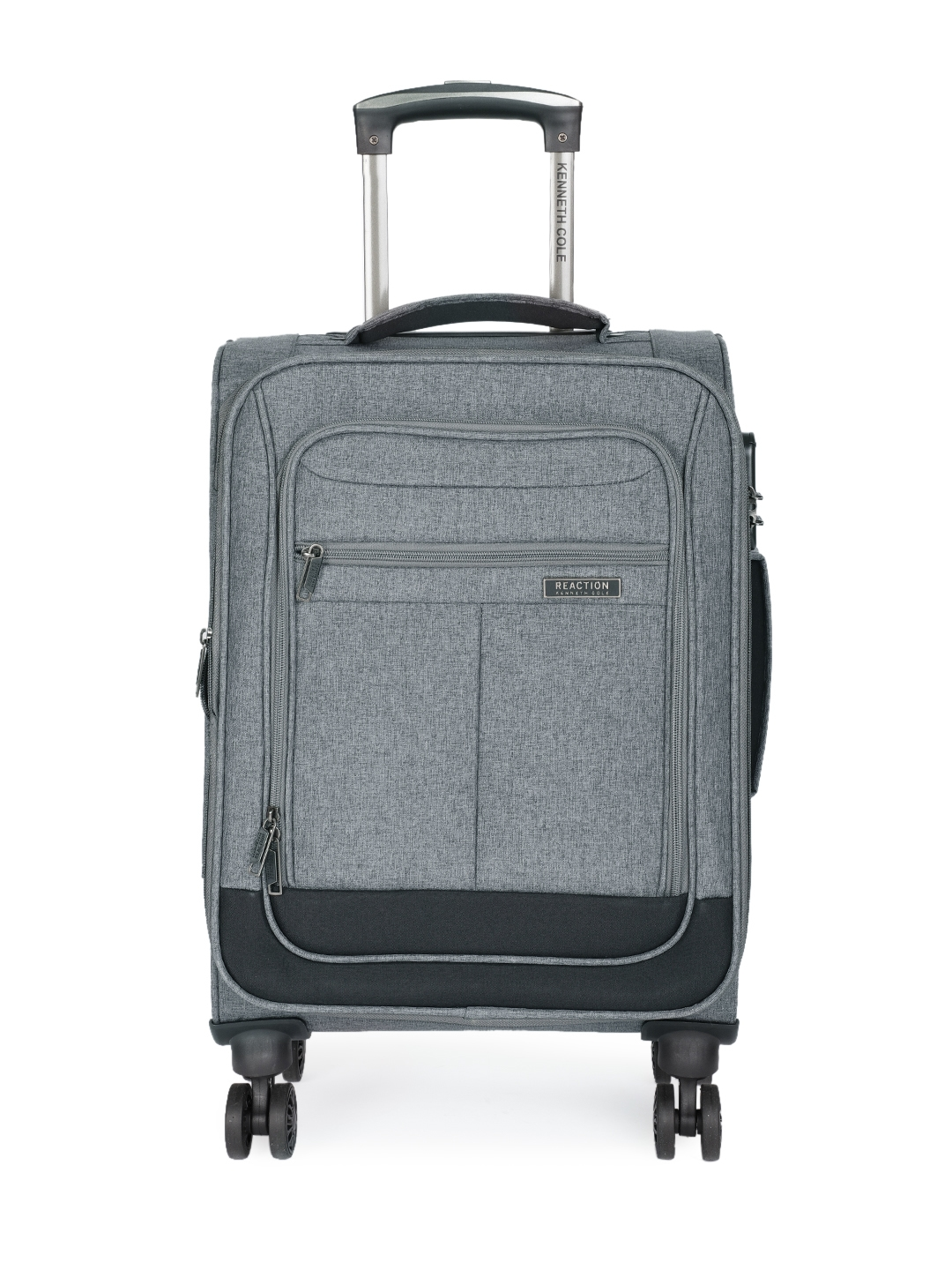 Kenneth Cole Unisex Grey Solid Reaction 20  Cabin Trolley Suitcase