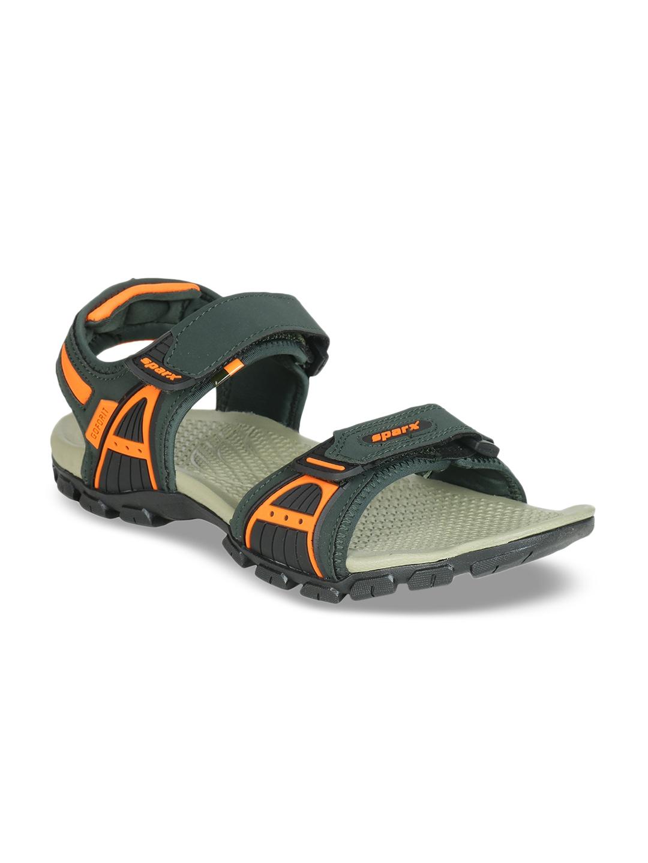 Buy Sparx Men Green Comfort Sandals