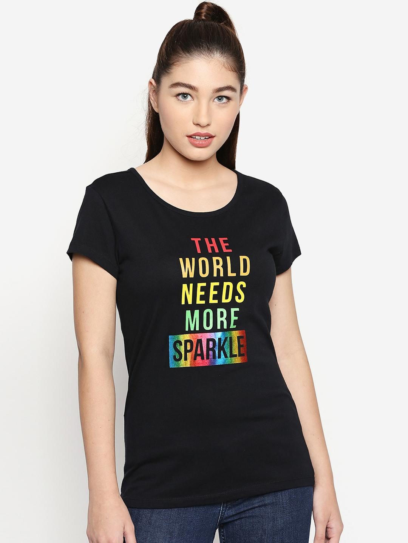 2c3caea47820 Buy Honey By Pantaloons Women Pack Of 3 Printed Round Neck T Shirt ...