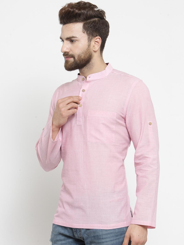 Men-039-s-Short-Kurta-Cotton-Shirt-Indian-Wear-Short-Round-Neck-Tunic-Kurta-XS-5XL thumbnail 30