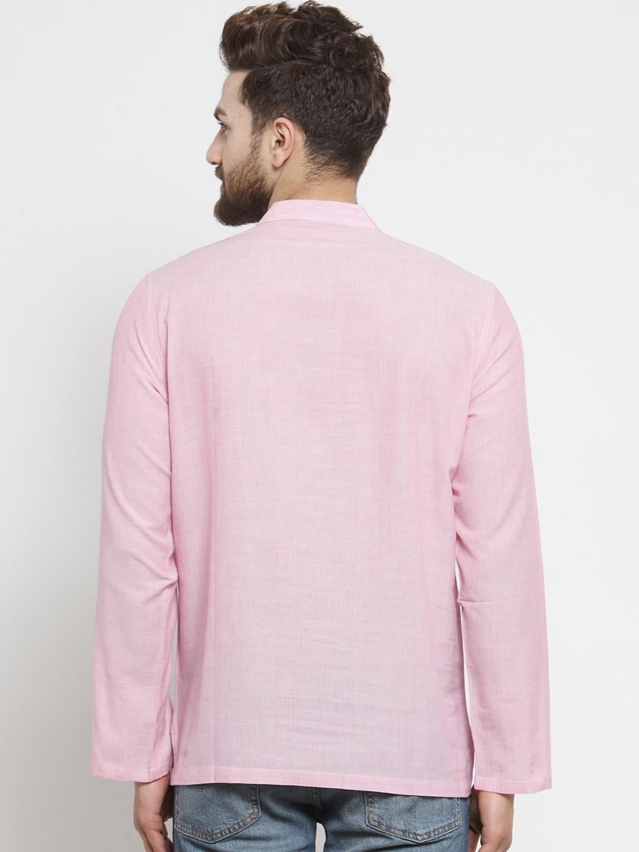 Men-039-s-Short-Kurta-Cotton-Shirt-Indian-Wear-Short-Round-Neck-Tunic-Kurta-XS-5XL thumbnail 31