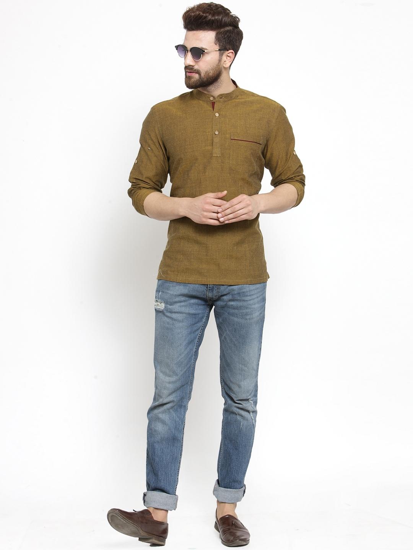 Men-039-s-Short-Kurta-Cotton-Shirt-Indian-Wear-Short-Round-Neck-Tunic-Kurta-XS-5XL thumbnail 22