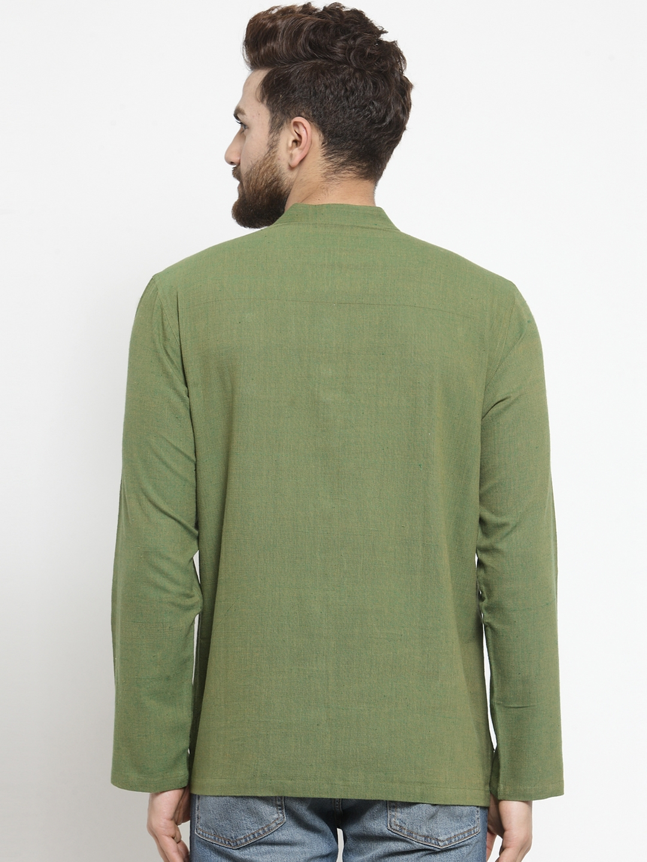 Men-039-s-Short-Kurta-Cotton-Shirt-Indian-Wear-Short-Round-Neck-Tunic-Kurta-XS-5XL thumbnail 26