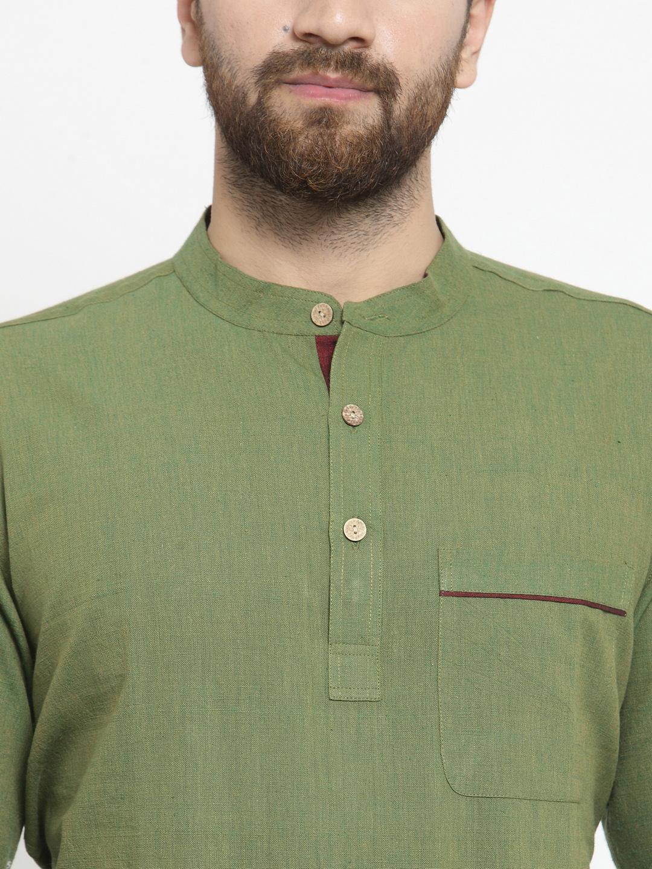 Men-039-s-Short-Kurta-Cotton-Shirt-Indian-Wear-Short-Round-Neck-Tunic-Kurta-XS-5XL thumbnail 24